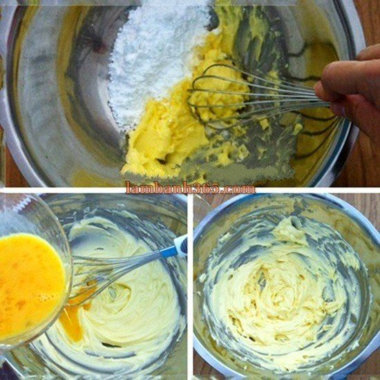 Cách làm phần vỏ bánh