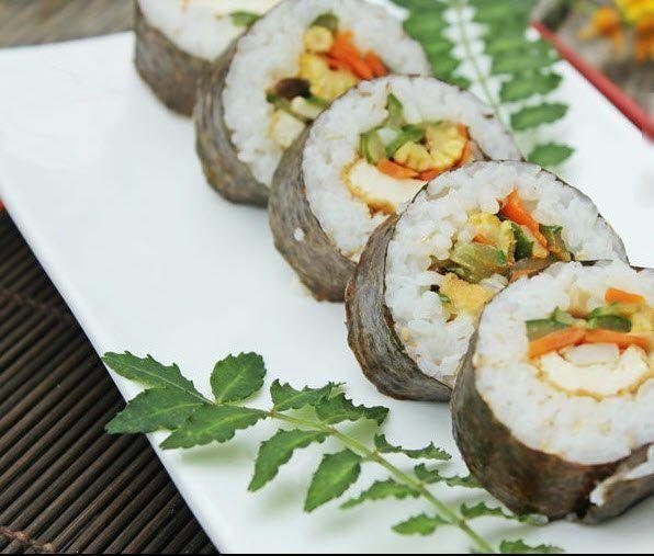 Cách làm sushi chay ngon tại nhà