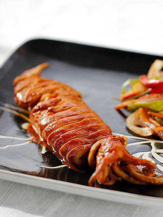 Mực nướng kiểu Hàn Quốc cực ngon và lạ miệng