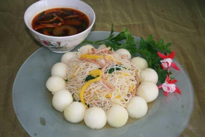 Bún Xào Củ Su & Thịt Sợi Chay