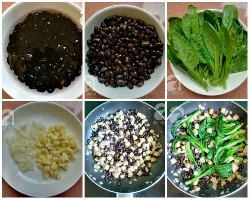 Ăn chay ngon với món cải ngồng xào đậu đen