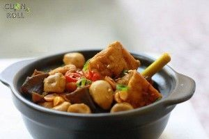 Củ hũ dừa kho nấm
