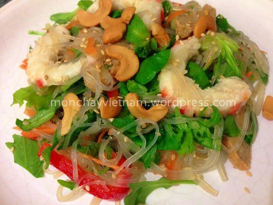 Miến trộn tôm chay kiểu Thái