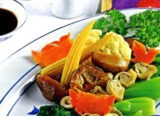Món chay cải thìa sốt nấm