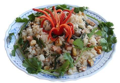 Món chay : Cơm chiên Thái Lan .