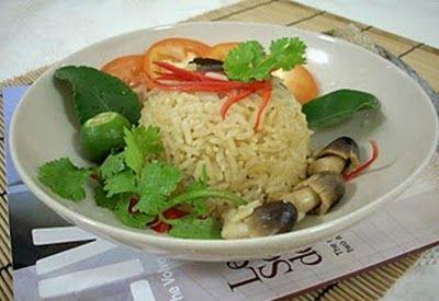 Món chay : Cơm Tom Yum Thái Lan .