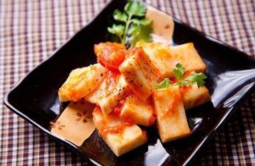 Món chay : Cùi dừa kho cà chua