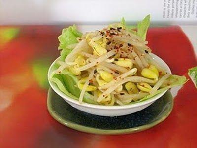 Món chay :Gỏi Giá Đậu Nành Cay Giòn Đại Hàn.