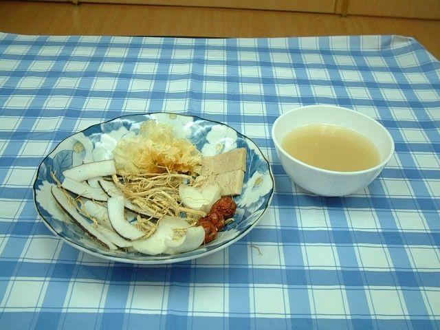 Ấm lòng với món chay : Soup Dừa .