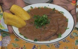 Món chay : Soup odika kiểu Gabon , Hạt xoài hoang .
