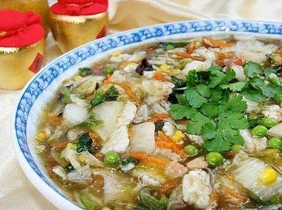 Món chay : Soup thập cẩm .
