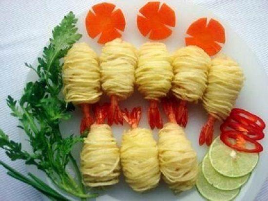 Cách làm tôm cuốn khoai tây cho bữa ăn cuối tuần thêm ngon