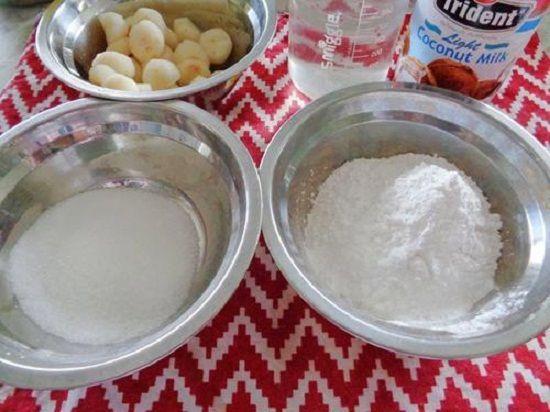 Cách làm bánh củ năng nước cốt dừa tráng miệng đơn giản