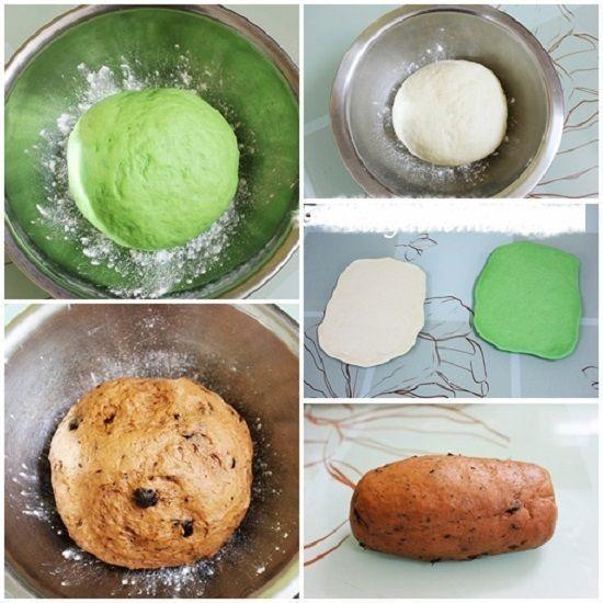 Cách làm món bánh mì hình dưa hấu độc đáo