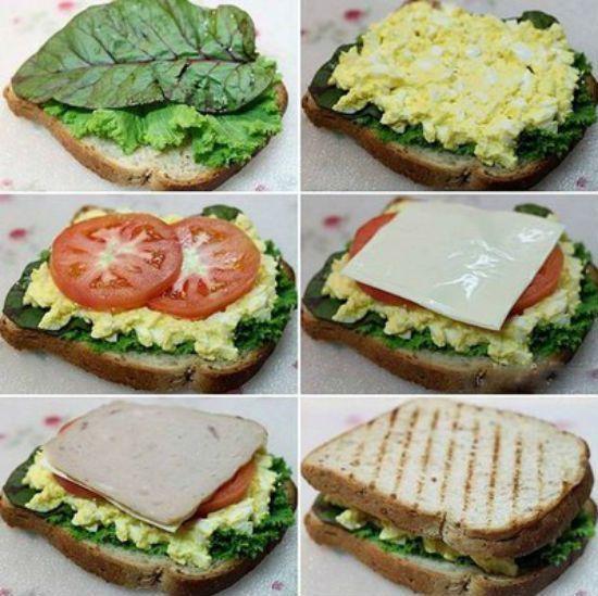 Cách làm bánh sandwich không cần lò nướng