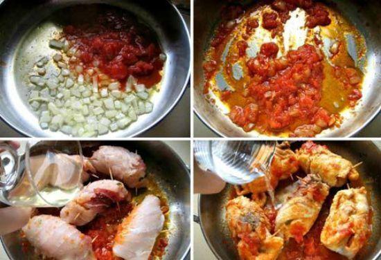 Công thức làm món cá kiếm cuộn sốt cà chua kiểu Ý sang trọng mời khách