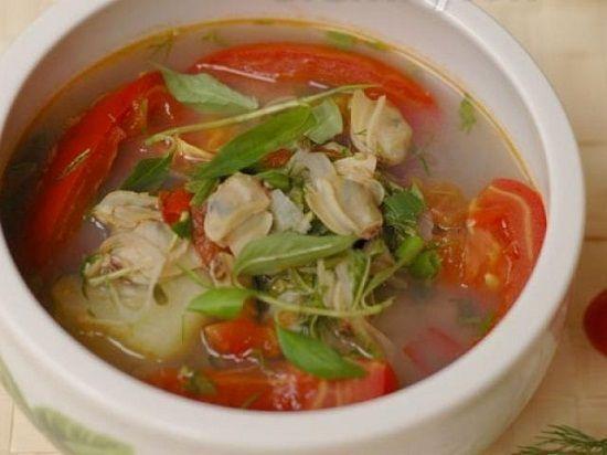 Công thức cho món canh ngao nấu chua thanh mát ngày nóng