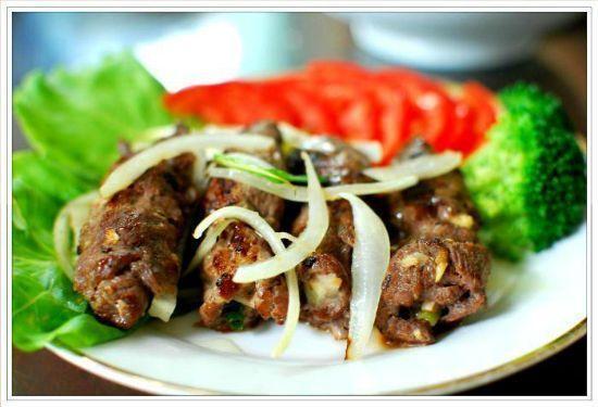 Ngon mắt ngọt cơm với thịt bò cuộn hành nướng