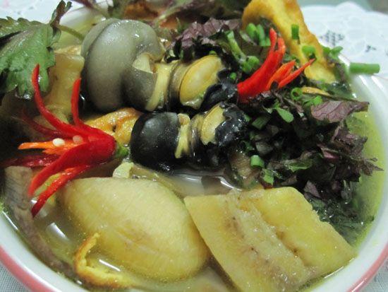 Mẹo nấu ốc chuối đậu thơm ngon không bị tanh
