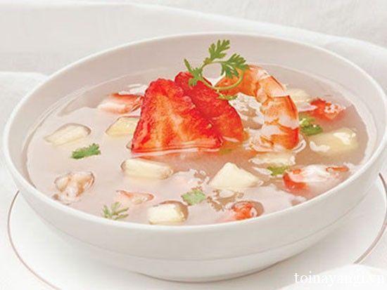 Cách làm sup trái cây cho bé yêu