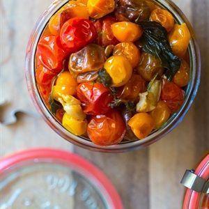 Cà chua bi nướng