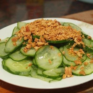 Salad dưa leo đậu phộng chua ngọt