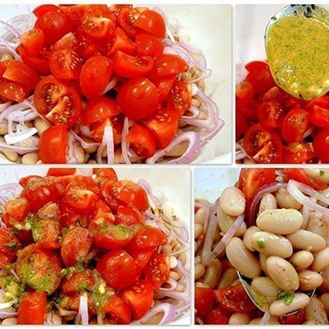 Salad tôm đậu trắng