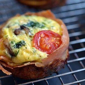 Muffin trứng thịt xông khói