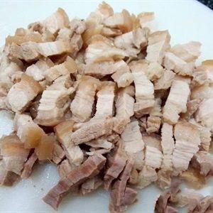 Gỏi thịt heo trộn sung muối