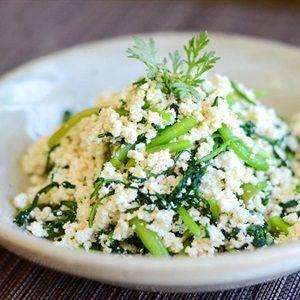 Salad đậu hũ rau tần ô