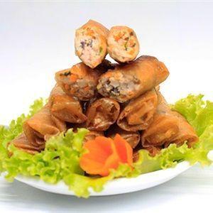 Chả giò nhân thịt nấm