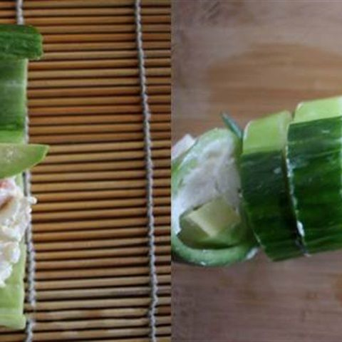 Salad dưa leo cuộn