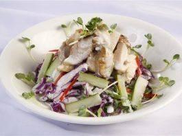 Salad dưa leo thịt gà